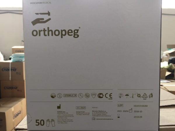orthopeg - особо прочные хирургические перчатки из натурального латекса